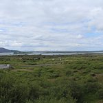View of Lake Myvatn from parking lot.