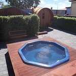 Our Hot pool and sauna