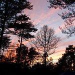 Le coucher de soleil du site