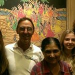 Peter and family with Pratibha.