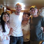 My mom, myself, Mrs. Rodriguez (the owner and longtime family friend) and my pop