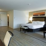 ADA rooms have large open floor space and wide bathroom door