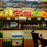 Cafe adjoins the produce store