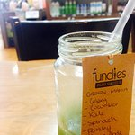 Fundies own organic cold press juice - delicious!