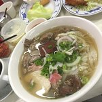 Excellent pho with pig blood and organs !