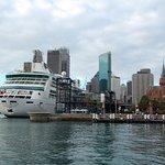 Cruise ships dock at Circular Quay