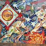Mural en ceramica, del Centro Turistico
