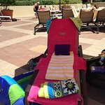 My chair for the day at the pool.