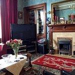 Guest lounge at Hazeldean House, Dumfries, Scotland