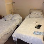 Single beds in dormitory