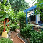 """Path between restaurant and our """"Seaview Villa"""", room 102"""