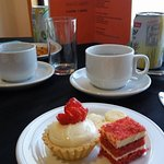 Afternoon tea at the Premier Lounge