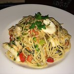 Spaghetti Pescatore (seafood with a touch of chilli - delicious)