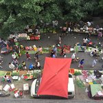 Street markets from above.