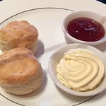 Scones with jam and chantilly cream