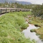 passage de la White Pass à la frontière entre l'Alaska et le Canada