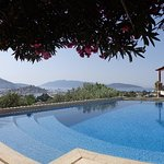The pool and view over Bodrum