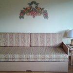 il salotto formato da un divano letto