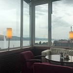 View and Food in the bar