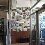 The Photo wall tells some of the history of the shop.