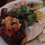 Barbacoa deal mar..scallops and short ribs...delish