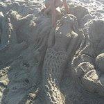 мы лубили лепить на пляжу Grand Platon