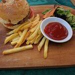 Good food at the beach restaurant.
