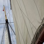 Guests on the Kajama volunteered to raise the sails with staff.