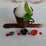 Ein Dessert aus dem Menu