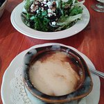 French Onion soup and Beet Salad.