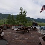 The view of National Elk Refuge from the museum