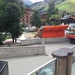 Ausblick von der Restaurant-Terrasse wo ständig Bauarbeiten statt fanden