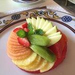 Breakfast fruit plate