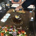 Teppanyaki grill, a great presentation!