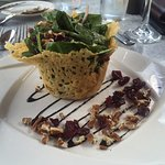 Beautifully presented spinach salad was equally delicious