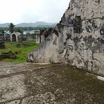 The grounds of the Portobelo fort.