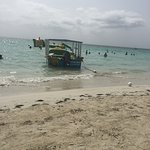 Negril beach with floats and slides