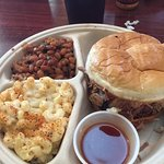 Carolina Pulled pork plate was very delicious. Great atmosphere and friendly staff.