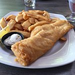Fish and Chips at Fournos Rest. Niagara on the lake, Ontario