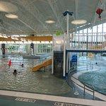 The hub pool area