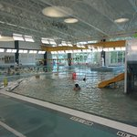 Hub pool - water aerobics and lap swimming in background