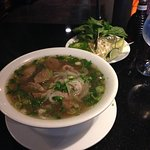 Here it is the pho with meat ball