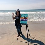 We had a blast painting and filming on the beach while we stayed at Loggerhead Inn!