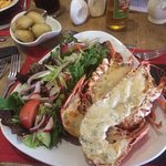 Pre ordered lobster  As I've never had it before! Well presented ,cooked to perfection ,and the
