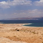 Dead Sea Israel side - Jordan is clear on the far side