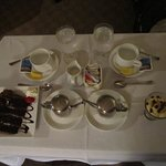 We had out dessert sent to the room 30 minutes after dinner.