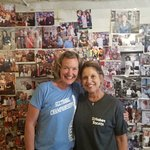 me and Lynn, the owner of 23 years. She's a pistol!!