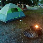 Camping at Fort Pickens.