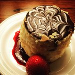 Boston Cream Pie that was waiting in our room (it was part of the package we booked)