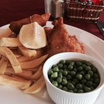 Friday special before 7pm €6.75 Cod, Chips n Peas  yum!